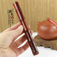 Fine lobular red sandalwood tea knife tea Damascus tea bamboo knife knife collection with holiday gift bag mail