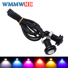 1Pcs 18MM Car Led Eagle Eye DRL Daytime Running Lights LED 12V Backup Reversing Parking Signal Automobiles Lamps car styling