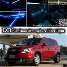 For Chevrolet Orlando 2011~2014 interior Ambient Light Tuning Atmosphere Fiber Optic Band Lights Door Panel llumination Refit