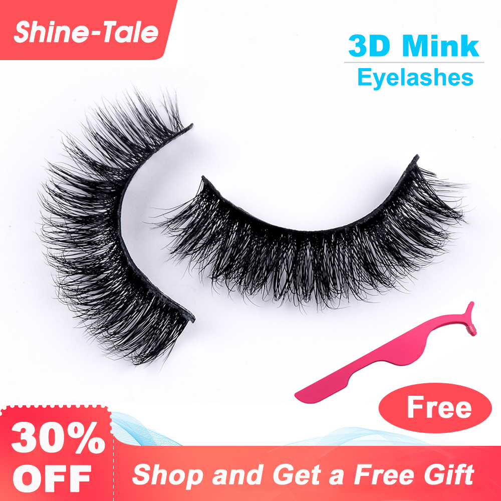 Shine-tale Eyelashes Mink Hair False Lashes Extensions 3D Makeup For Eyelashes Extension Free Shipping A09(China)