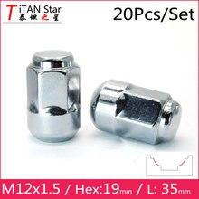 20 PCS M12x1.50 1.5 OEM OE Estoque Fábrica Jantes De Bolota assento Lug Nuts 35mm XRV Hex19mm Para Honda Accord CRV Acura 991935
