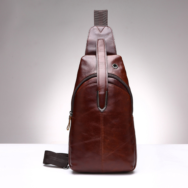 Hot selling genuine leather men chest packs with high quality men messenger bags small travel shoulder bags for man 2016 hot 2017 new arrival fashion leather men messenger bags high quality casual small chest packs vintage brown shoulder bags bolsos