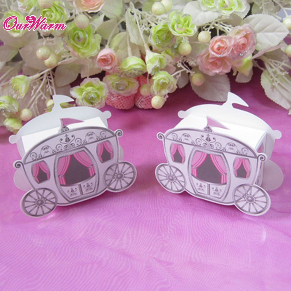 MEIDDING 3pcs Carriage Wedding Candy Box Party Royal Coach Gift Box ...