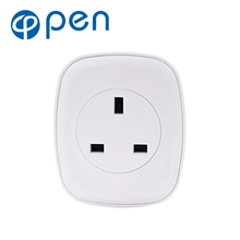 цена на OPSA-001 10A Wifi Smart Switch Power Plug Socket UK 220V Wireless Light Outlet Timer Remote Control Support Alexa Google Home