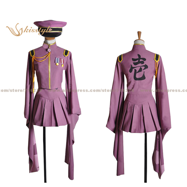 Kisstyle Fashion VOCALOID Hatsune Miku Senbon Sakura Uniform COS Clothing Cosplay Costume,Customized Accepted