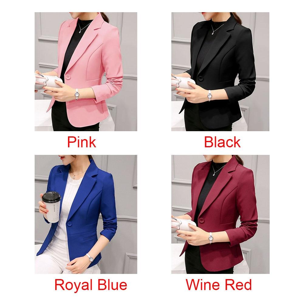 Women Ladies Coat Casual Slim Fit Blazer Long Sleeve Office Fabala Outwear Business Suit