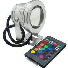 10 шт. 10 Вт rgb светодиодный прожектор dc12v ip68 водонепроницаемый аквариум бассейн огни прожектор нержавеющей освещение автомобиля