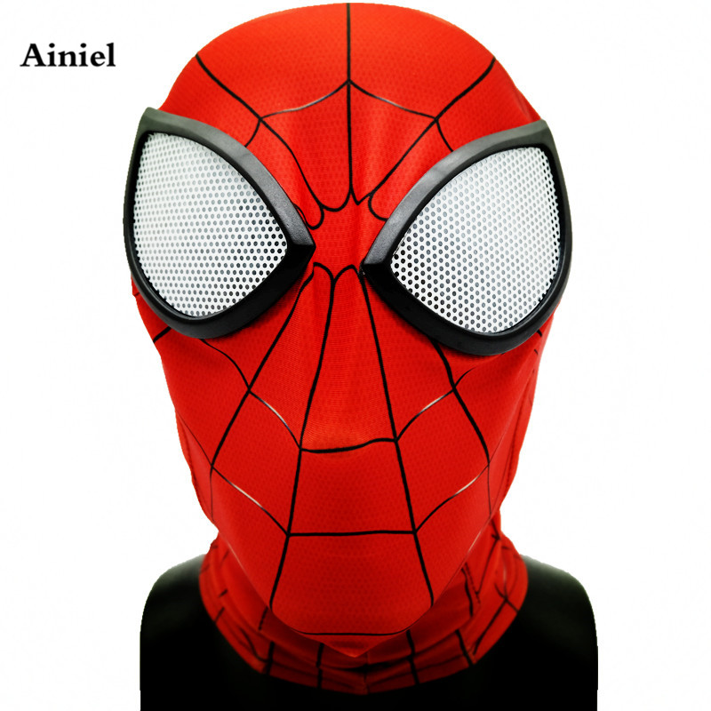 Ainiel Avengers Infinity War Iron Spider Man Mask Superhero Homecoming Spiderman Cosplay Costume Halloween Helmet Adult Children