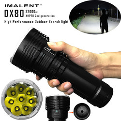 Original IMALENT DX80 Rechargeable LED Flashlight Cree XHP70 32000 Lumens 806 Meters Torch Powerful Flashlight for Search