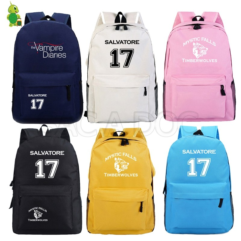 The Vampire Diaries Backpack Fashion School Bags For Teenagers Boys Girls Solid Travel Shoulder Bags Women Men Laptop Backpack