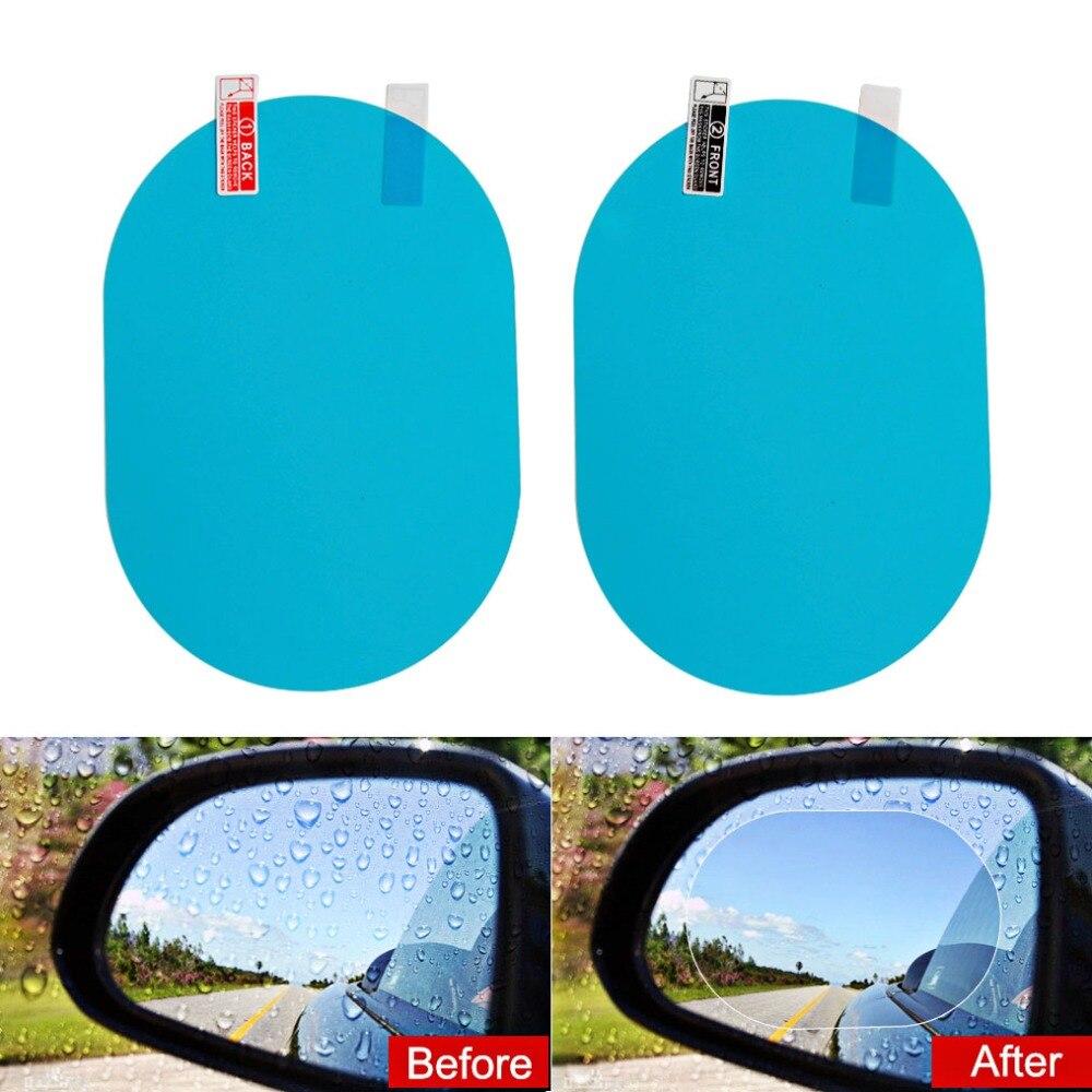 2PCS Anti Fog Car Mirror Window Clear Film Anti Car Rearview Mirror Protective Film Waterproof Rainproof Car Sticker