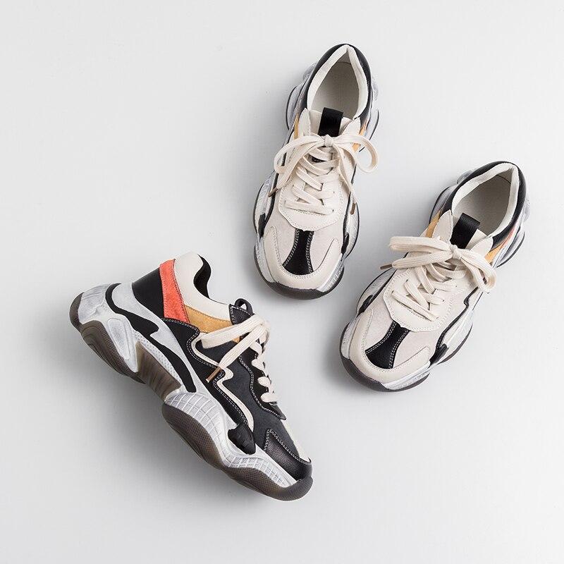 Deporte negro De Beige 2019 Mujeres Zapatillas Indaco 6 Casuales 42 Blancos Mujer Zapatos Plataforma Las Cm 35 aExxUSw1q
