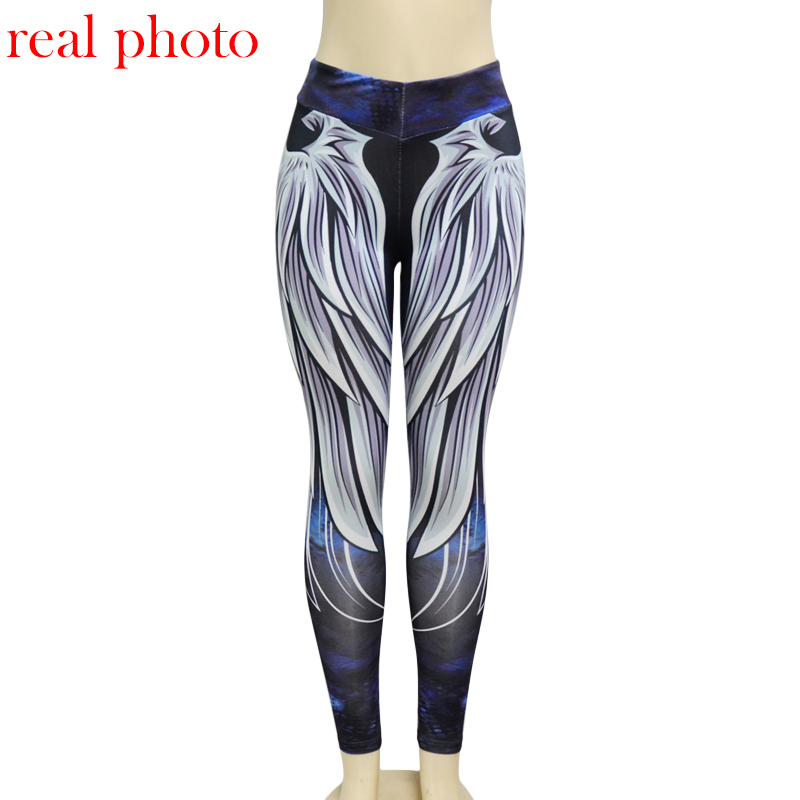 Simenual Harajuku 3D wing leggings for women 2018 push up sporting fitness legging athleisure bodybuilding sexy women's pants 3