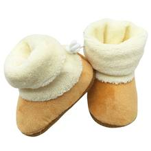 WEIXINBUY winter baby boys girls winter shoes russia kids warm shoes Faux fur boots girls Baby boy leather slippers(China)