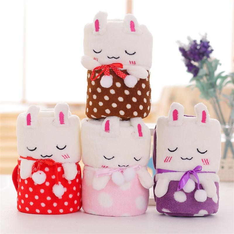 Creative Baby Sheet Gift Flannel Dot Blankie 80*100cm Animal Roll Blanket Swaddle Wrap Bebe Envelope Wrap Nap Sheet