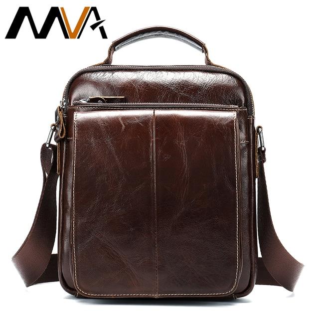 1e6f1887155c US $59.23  MVA Genuine Leather Men Shoulder Bag Men's Messenger Bag Vintage  Crossbody Bags Leather Business Handbag Male iPad Bags Men 379 on ...