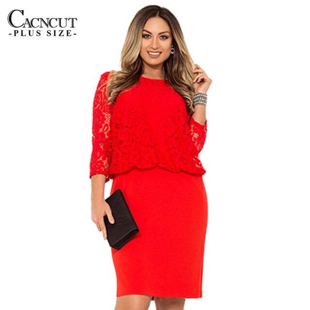 Office Work 5XL Lace Dress Plus Size Women Dress 6xl Large Size Winter Dress  Bodycon Elegant Party Dresses Big Size vestidos 27bda2687b29