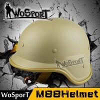 WoSporT Tactical Casco Ciclismo Clásico EE. UU. SWAT Army Airsoft M88 PASGT Kevlar Swat Segura CS Wargame Paintball Caza Al Aire Libre