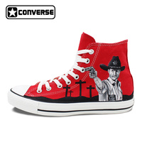 Red Original Converse All Star Men Women Shoes Zombies Walking Dead Custom Design Sneakers Hand Painted Shoes Man Woman