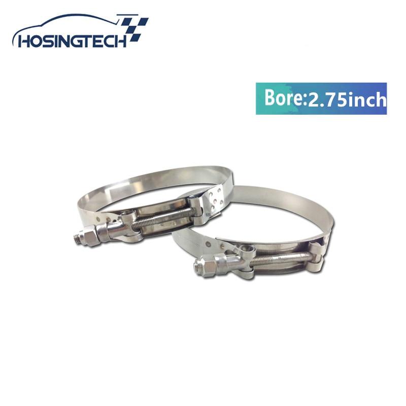 HOSINGTECH- NEW High Quality 2.75 Turbo Hose clamp Stainless Silicone T Bolt hose Clamp Kit 3pcs