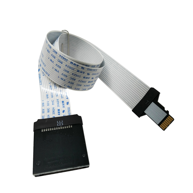 10cm 25cm 48cm 62cm TF Micro SD Card to SD Card Flex Extension cable Extender Adapter Converter