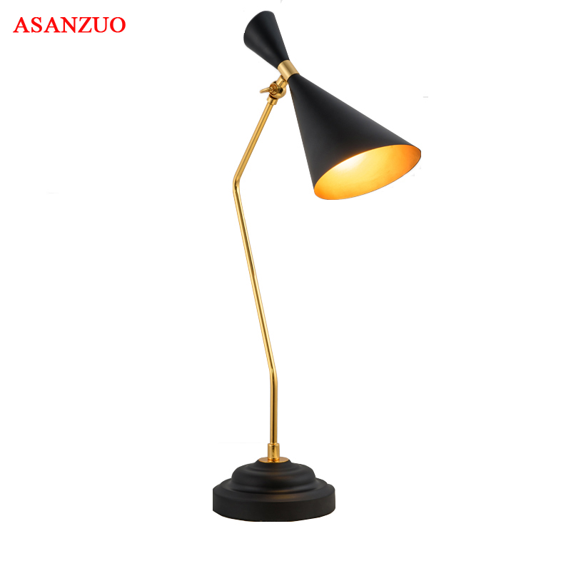Modern doubl speaker Table Lamp Black classic table lamp Study/office table lamps iron personality decoration Lighting fixtures
