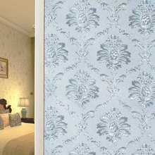 Electrostatic Glue-free Window Glass Film European Damascus Frosted Opaque Foil Sticker Customized Home Decoration