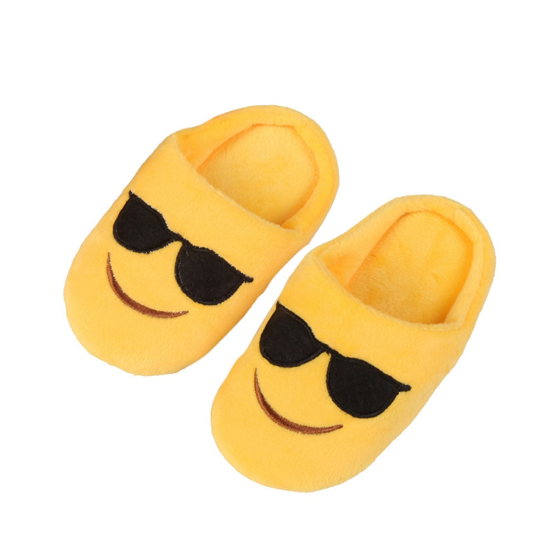Winter Cute baby girl Boys Slippers Expression Package Cotton Slippers Children Smiling Face Section Cool Style Flip Flop 2017