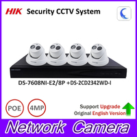 Original Hik P2P Security Camera Kit 8POE NVR DS 7608NI E2 8P 4MP IP Camera DS
