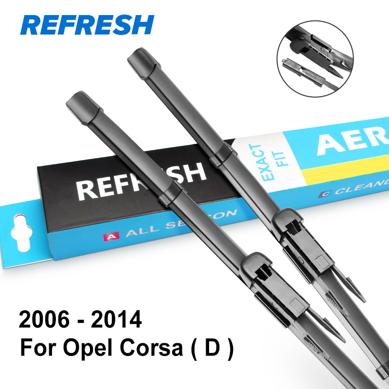 REFRESH Щетки стеклоочистителя для Opel Corsa C / Corsa D / Corsa E Точная модель год выпуска с 2000 по год - Цвет: 2006 - 2014 ( D )