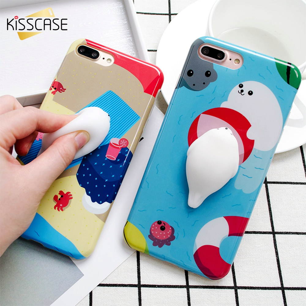 Squishy Bread Iphone 6 Case : KISSCASE Cartoon 3D Cat Squishy Phone Cases For iphone 7 Case iphone 6 6S 7 Plus Case Cat Claw ...