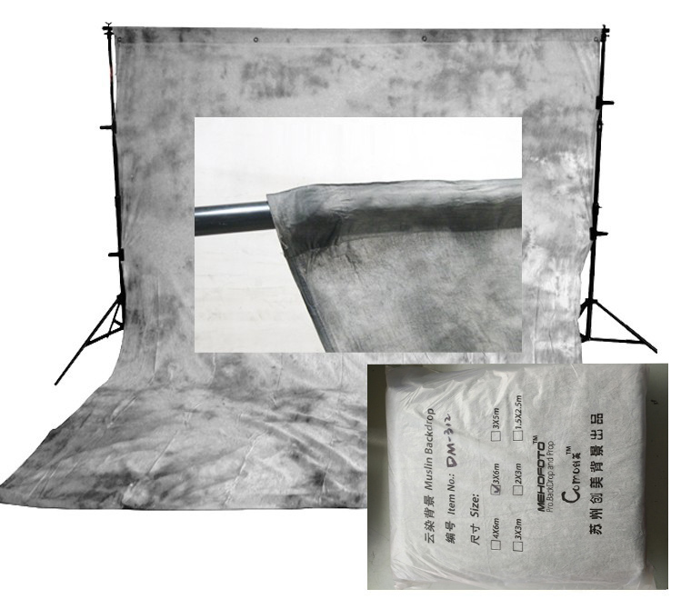 MEHOFOTO Pro fonds de photographie de mousseline teints Vintage vieux fond de mousseline de maître pour Studio de Photo personnalisé - 6
