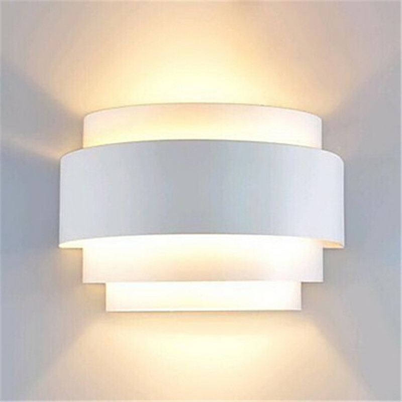 Modern Wall Lamp LED White Wall Sconce Ambient Light Flush ... on Contemporary Wall Sconces Lighting id=61946