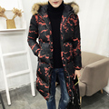 2016 winter men's leisure fashion camouflage blazers jacket Parkas men's long thicken cotton quilted jackets trench coat