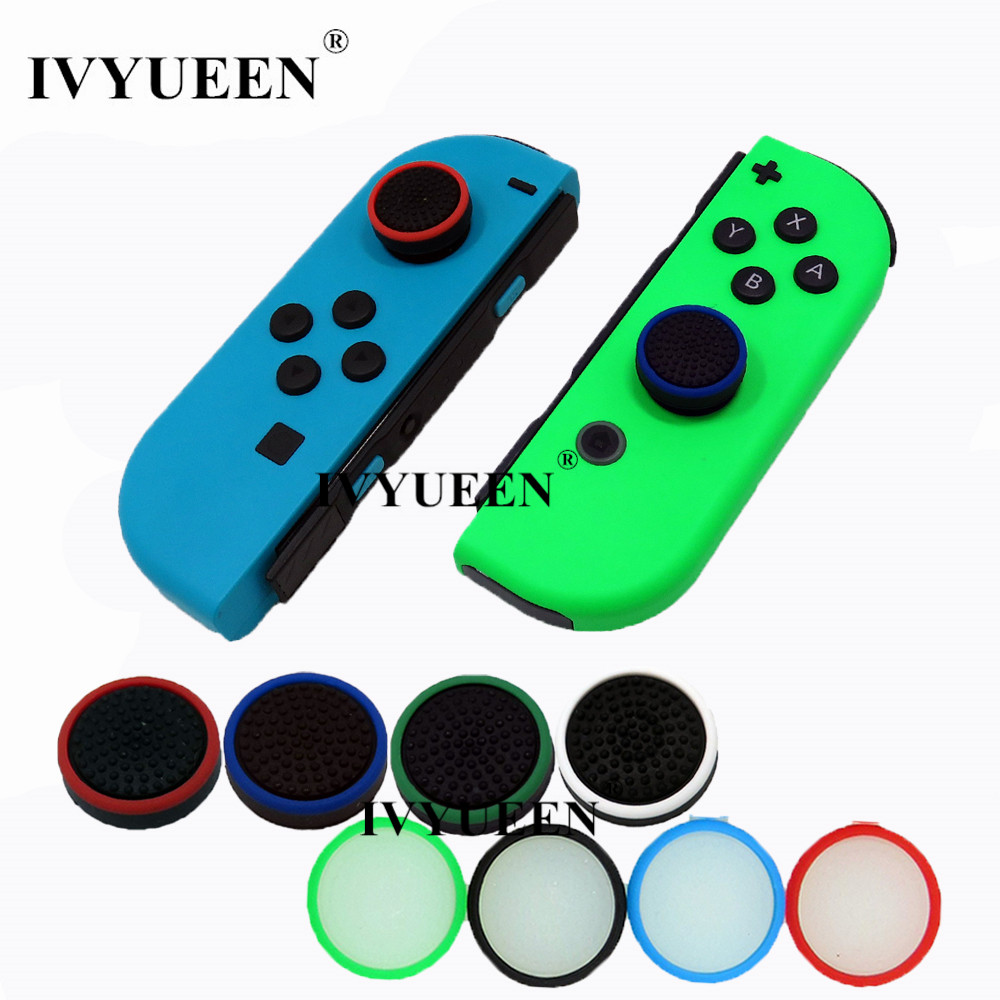 IVYUEEN 4 Pcs Silicone Grip For Nintend Switch NS Joy Con Controller Joystick Cover For Joy-Con Analog Thumb Stick Cap