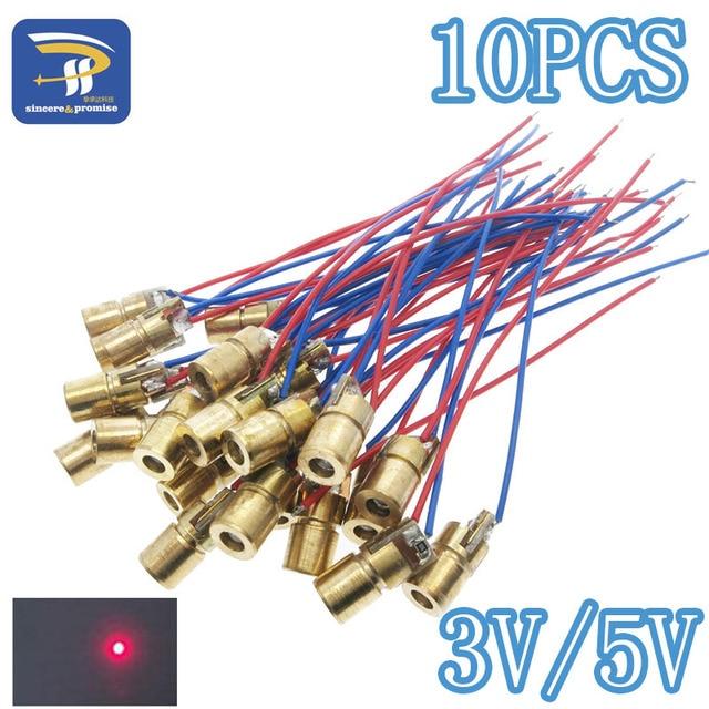 10pcs Laser Diodes 5mw 650 Nm Diodo Red Dot Laser Diod Circuit 3v5v