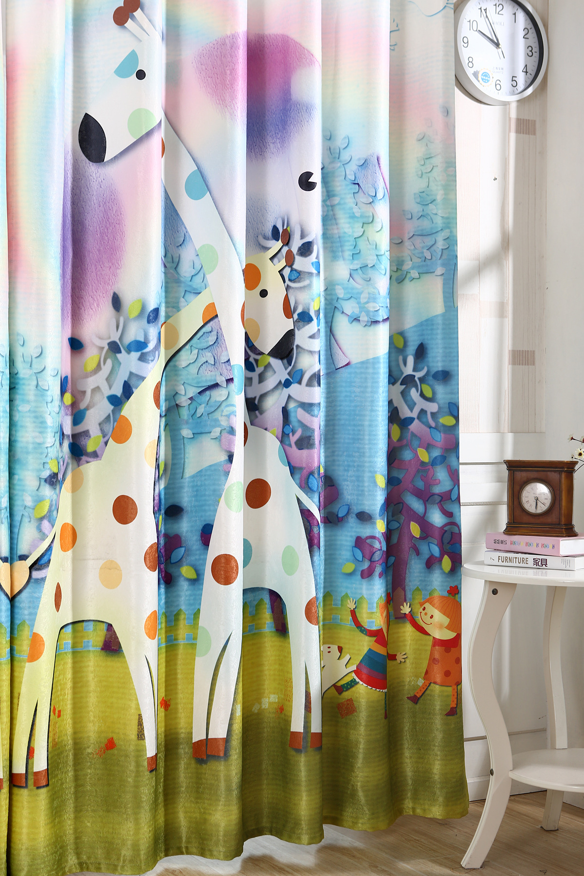 2016 New Korean 3D Printing Color Shade Curtains Children Cartoon Deer Product Customization - 3