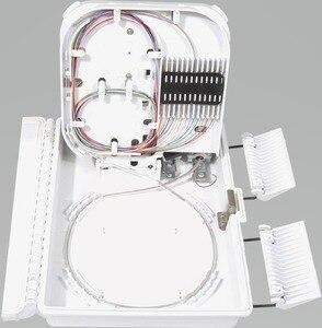 Image 4 - FTTH 12 แกนเส้นใยการสิ้นสุดกล่อง 12 พอร์ต 12 ช่อง Splitter กล่องในร่มกลางแจ้งเส้นใย Splitter กล่อง ABS