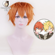 Anime Division Rap Battle Hypnosis MIC Busujima Meison Riou Short Orange Cosplay Wig Fluffy Layered  Synthetic Hair Wigs