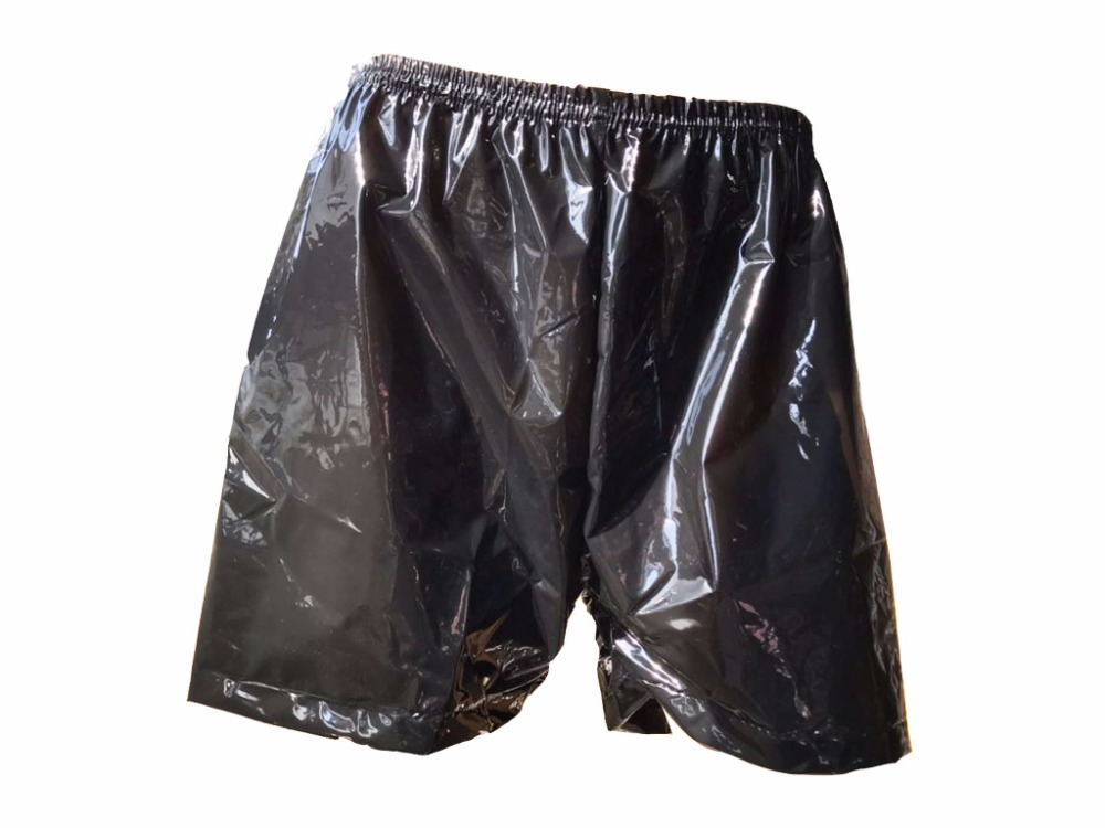 1 Piece*Haian Adult Incontinence Wear Plastic Bloomers Color Black P021-2