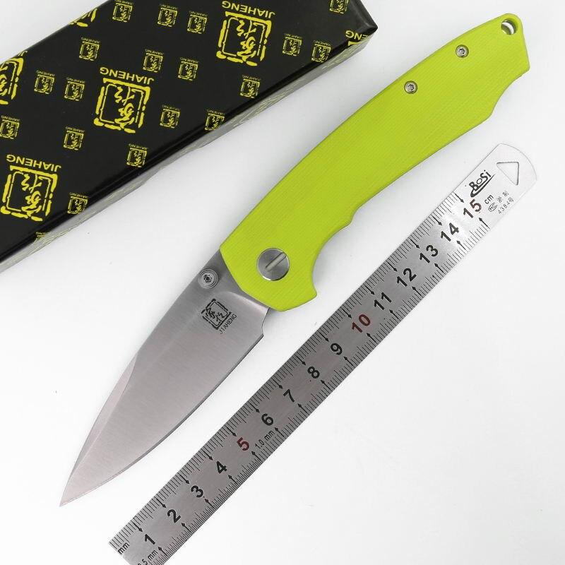 Jiaheng original Feathers Bearing Axis folding knife D2 blade G10 handle outdoors camping hunting pocket fruit knives EDC tool
