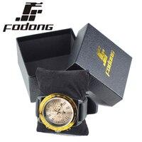 FODONG Brand Excellent Quality Quartz Watches Mens Fashion Quartz Clock Silicone Strap Wristwatches Relogio Masculino