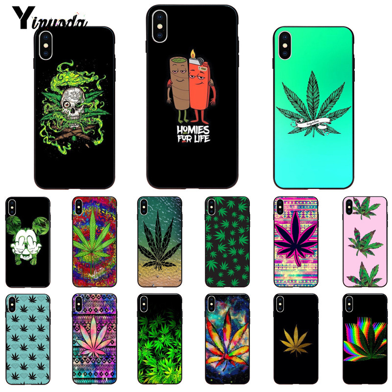 Yinuoda Abstractionism Art High Weed Newly Arrived Black Cell Phone Case For IPhone 6S