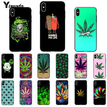 Yinuoda abstracta Art high weed recién llegado negro Funda para teléfono móvil para iPhone 6 S 6 plus 7 7 plus 8 8 Plus X Xs X MAX 5 5S XR(China)