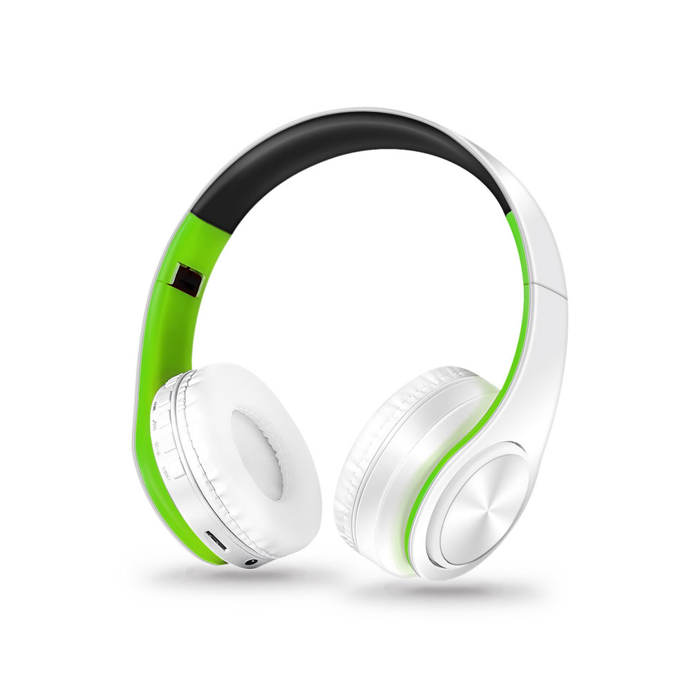 Foldable Wireless Headphones Colorful Stereo Audio Mp3 Bluetooth Headset Earphone Support SD TF Card FM AUX With Mic For Phones