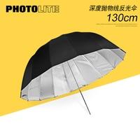 51 inch Diepe Reflecterende Paraplu Zwart en Zilver paraplu softbox Fotografische Flash Universele paraplu-in Zachte paraplu van Consumentenelektronica op
