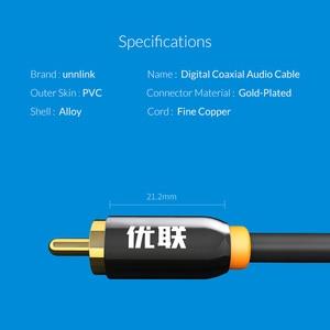 Image 5 - Unnlink HIFI 5.1 SPDIF Dây Cáp Đồng Trục Dây Kỹ Thuật Số AV RCA Audio 2M 3M 5M 8M 10M Dành Cho Loa Siêu Trầm Loa TV Dây Amplifer Soundbar