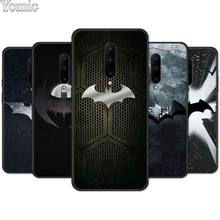 Cool marvel Batman logo Black Soft Case for Oneplus 7 7 Pro 6 6T 5T Silicone Phone Case for Oneplus 7 7Pro TPU Cover Shell