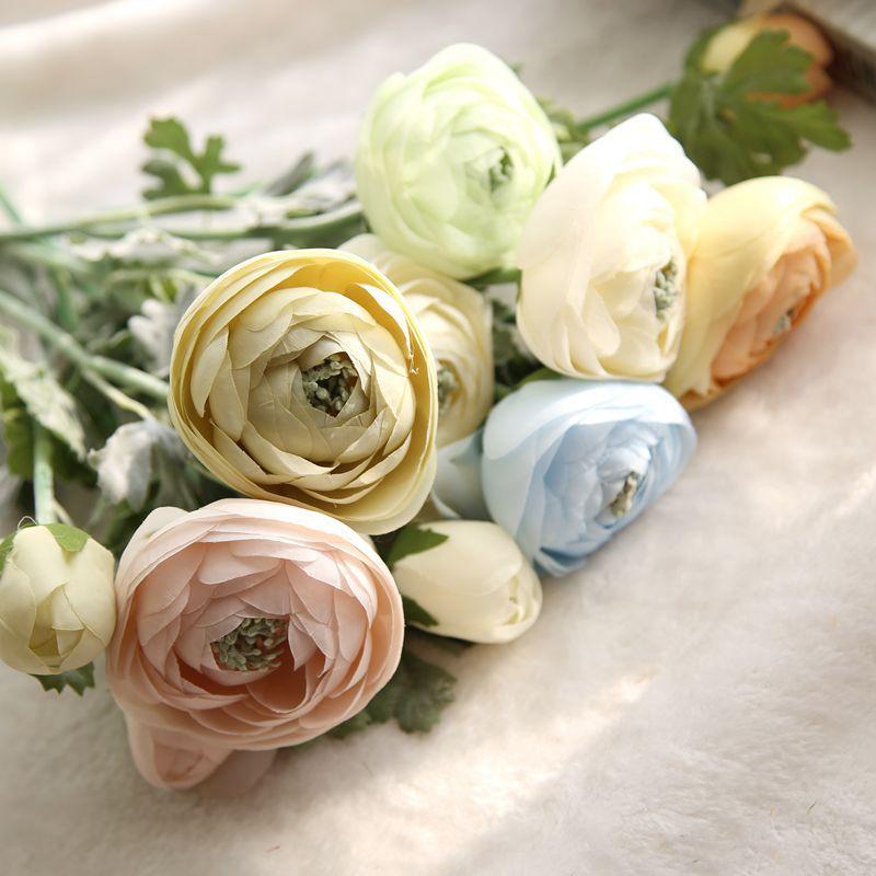 Té de seda artificial brotes color de rosa peonía fiesta en casa - Para fiestas y celebraciones