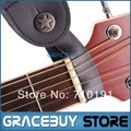 Genuine Leather Guitar Strap Button Holder for Acoustic, with Strong Metal Fastener, Fits Above Neck on Headstock